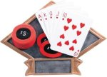 Poker Diamond Plate Resin  All Trophy Awards