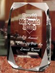Square Multi-Faceted Clear Acrylic Award Corporate Acrylic Awards