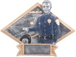 Law Enforcement Diamond Plate Resin  Military Trophy Awards
